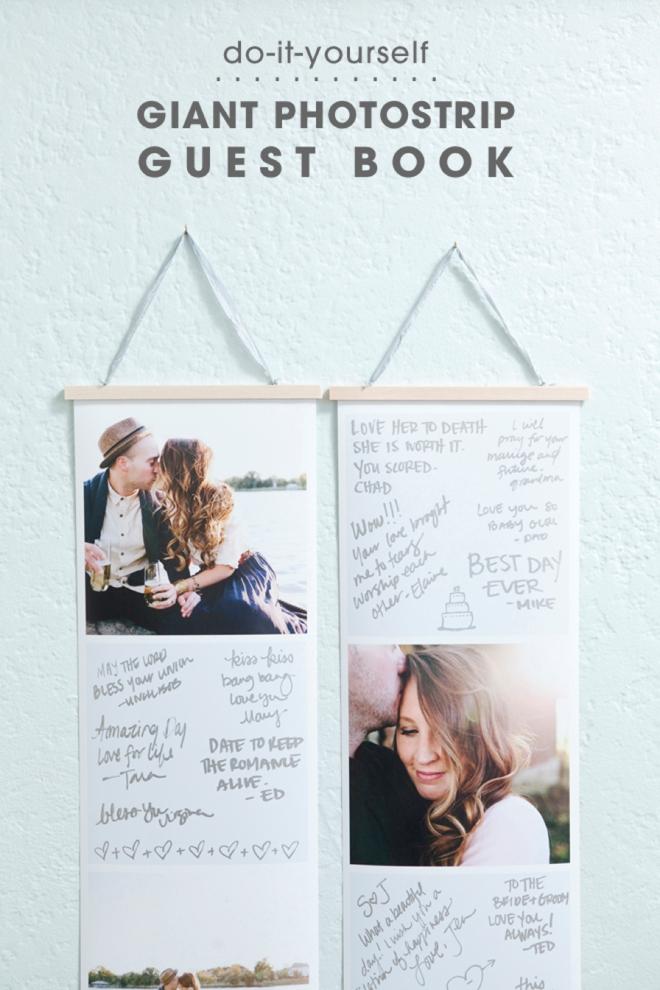 DIY Giant Photostrip Guest Book