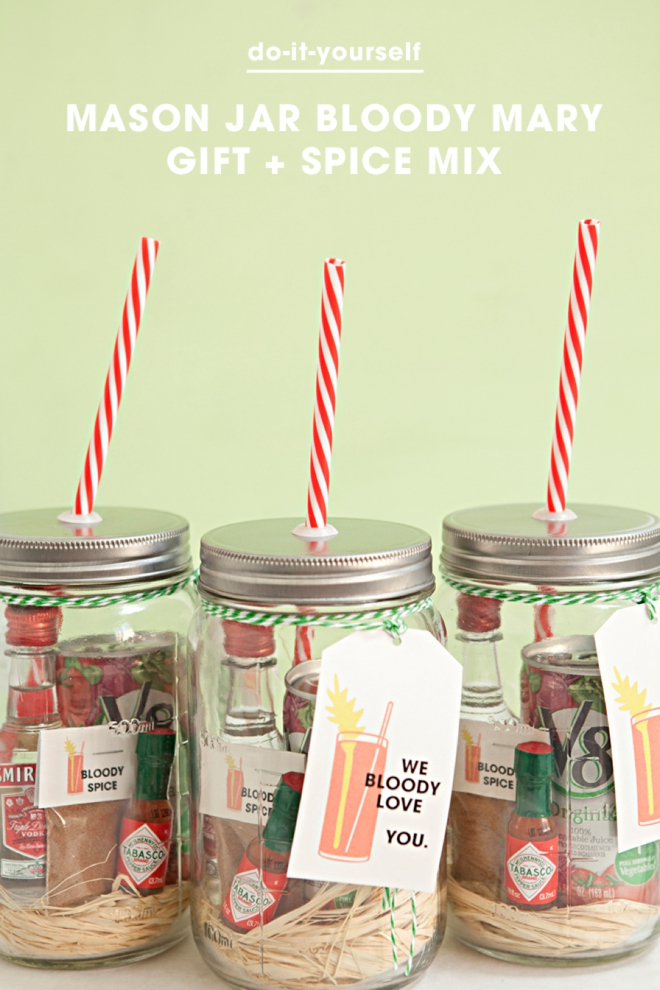 Make your own mason jar bloody mary gift spice mix mason jar bloody mary gift with spice mix solutioingenieria Image collections