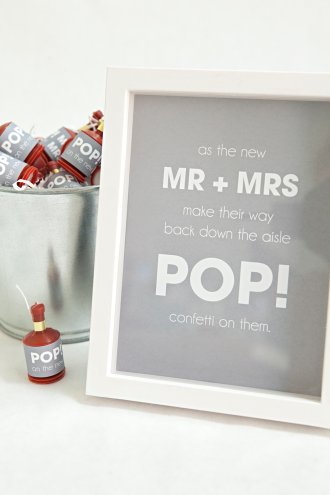 DIY - Party Popper Recessional with free design printables!