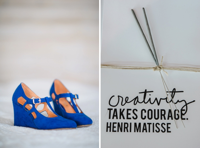 Blue Wedding shoes + sparklers