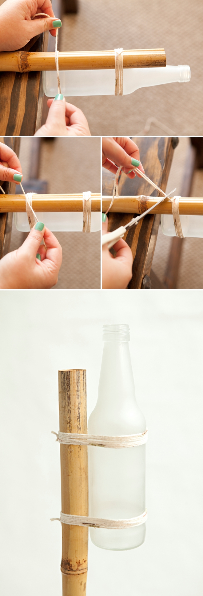 DIY Frosted Glass Vase, Garden Stakes