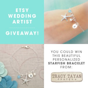 You could win this beautiful, custom starfish bracelet!