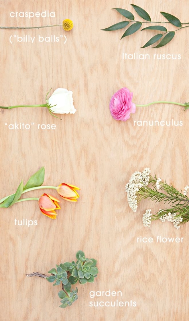Gorgeous, garden inspired DIY wedding bouquet - stems that you need
