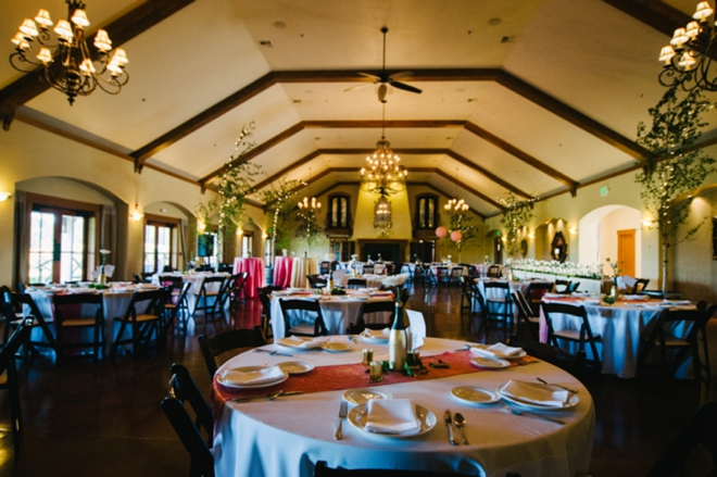Beautiful vineyard wedding reception