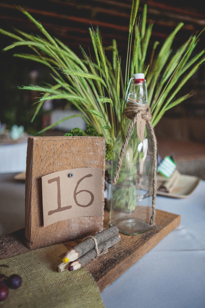 DIY, rustic table decor