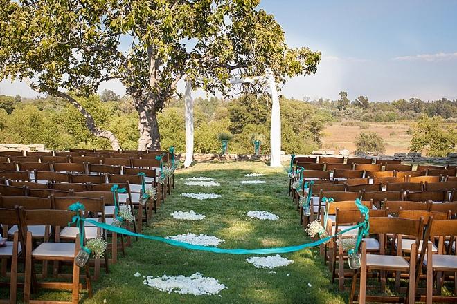 Beautiful park ceremony
