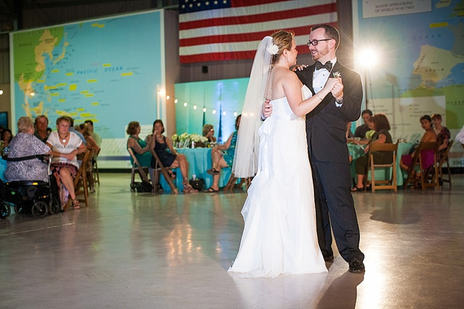 Awesome, DIY aircraft museum wedding