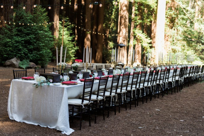 Stunning, family style wedding table