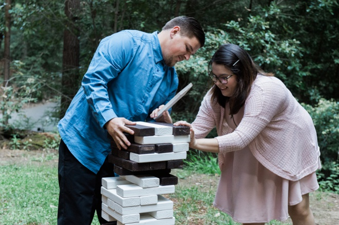 Giant wedding jenga!