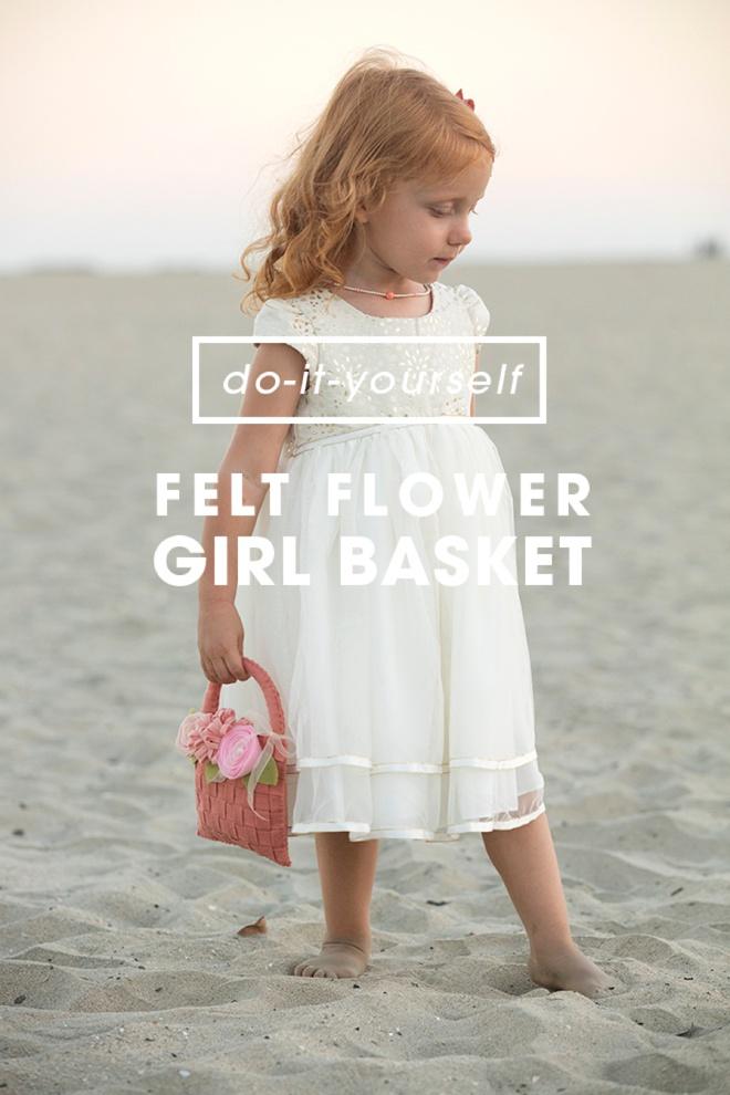 Awesome, DIY felt flower basket for your flower girl!