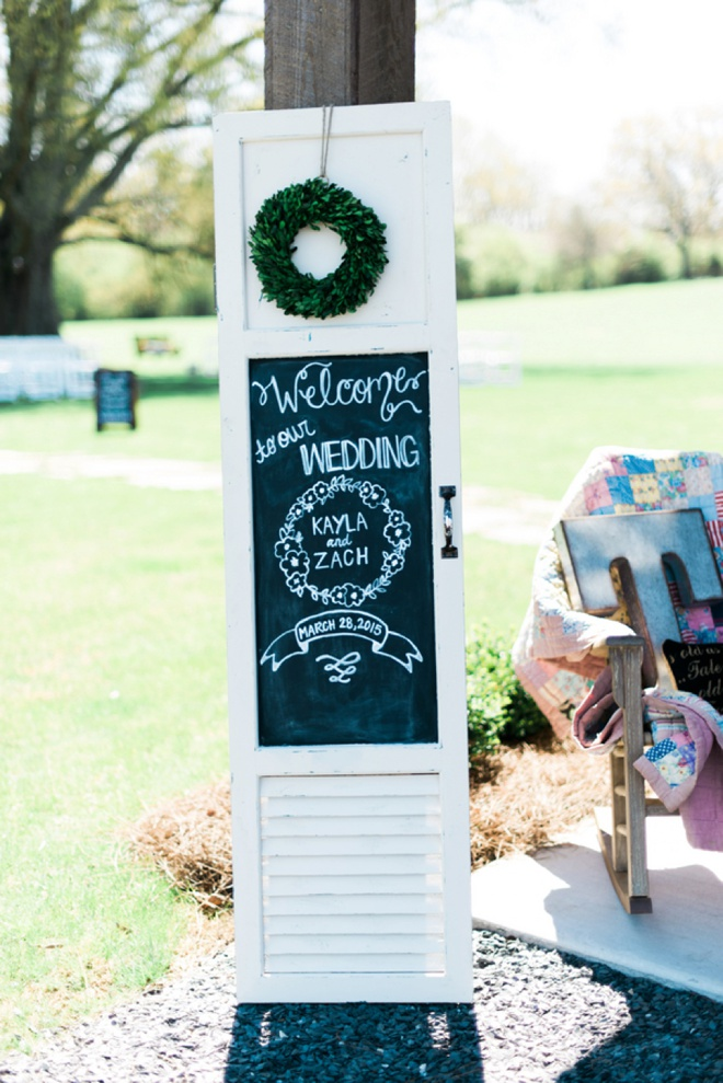 Welcome to our wedding sign!