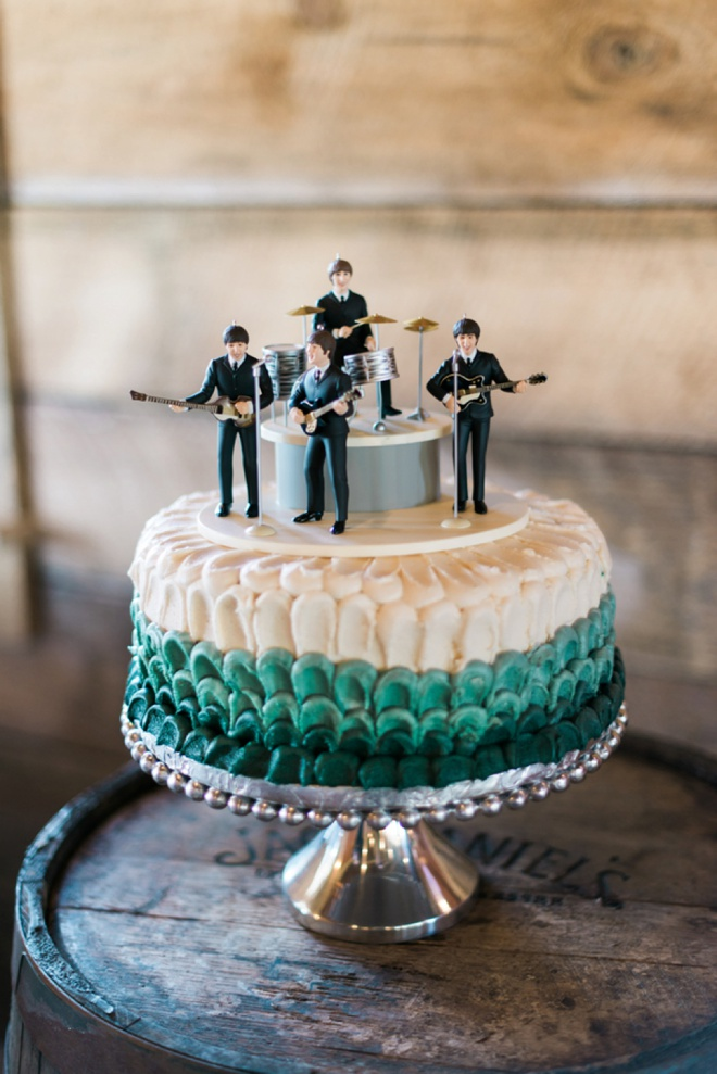 Beatles atop the grooms cake!