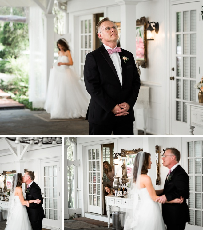 Bride and Father - first look!