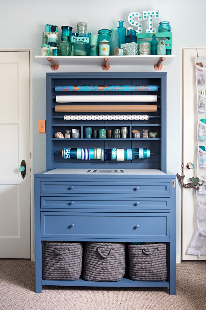 Something Turquoise Craft Room + Blog Office
