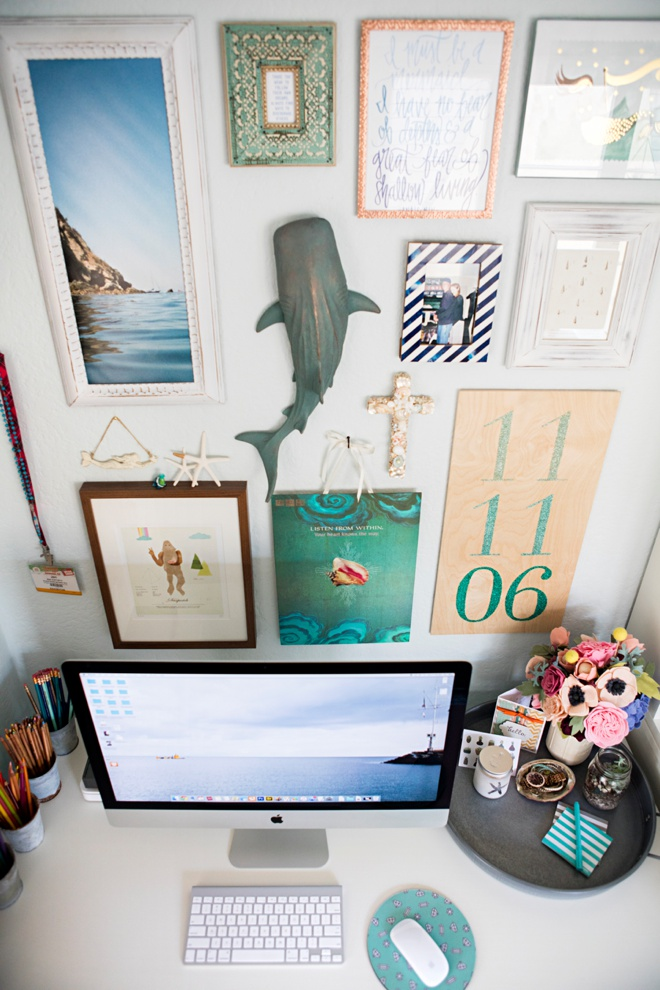 Something Turquoise Gallery Wall!