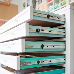 Martha Stewart Craft furniture in Something Turquoise craft room!