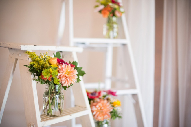 Ladders as wedding ceremony decor!