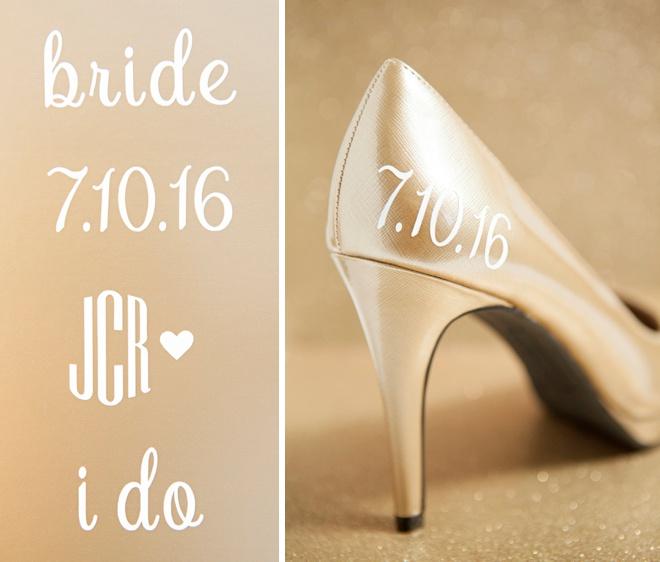 Learn How To Make Custom Wedding Shoe Stickers