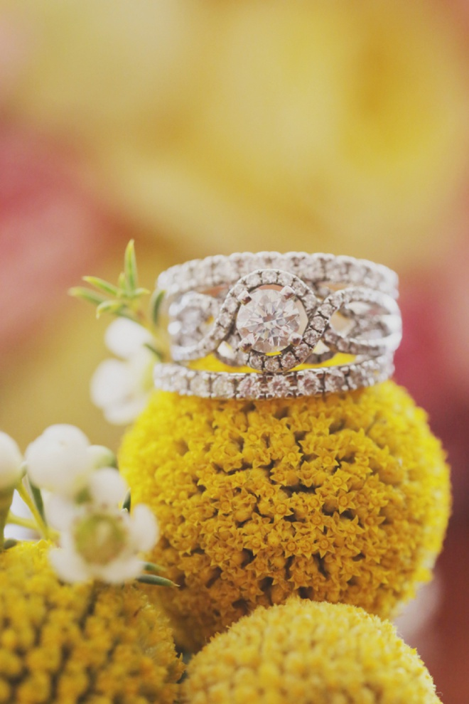 Gorgeous wedding ring shot on a billy ball!