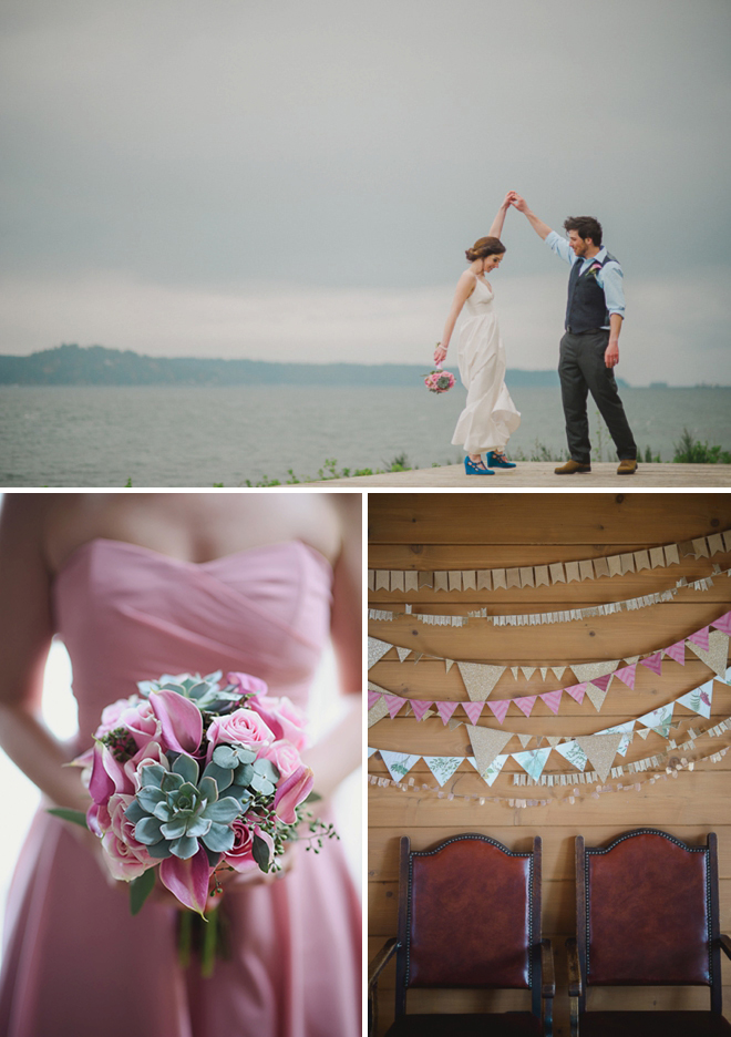 Gorgeous pink and gold DIY wedding, full of awesome details!