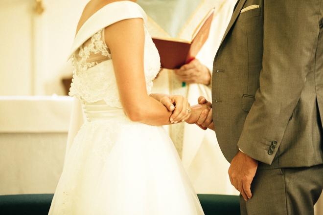 Beautiful catholic wedding ceremony.