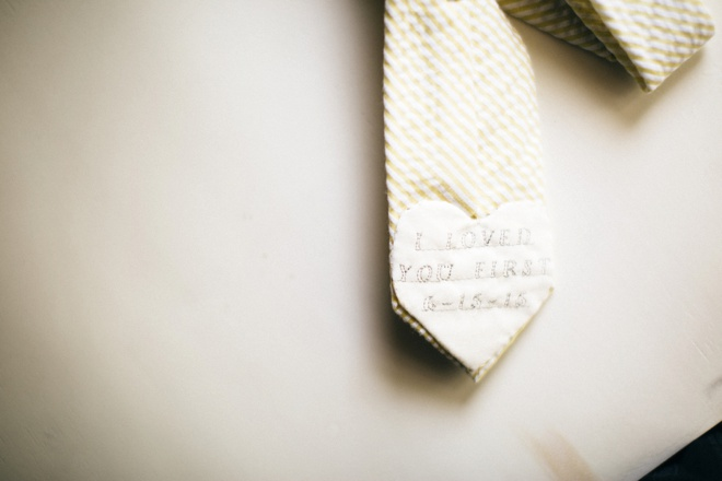 Embroidered heart tie patch for father of the bride!