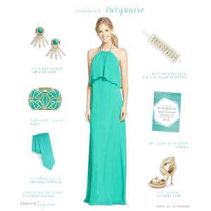 Turquoise styled look for a wedding on Something Turquoise