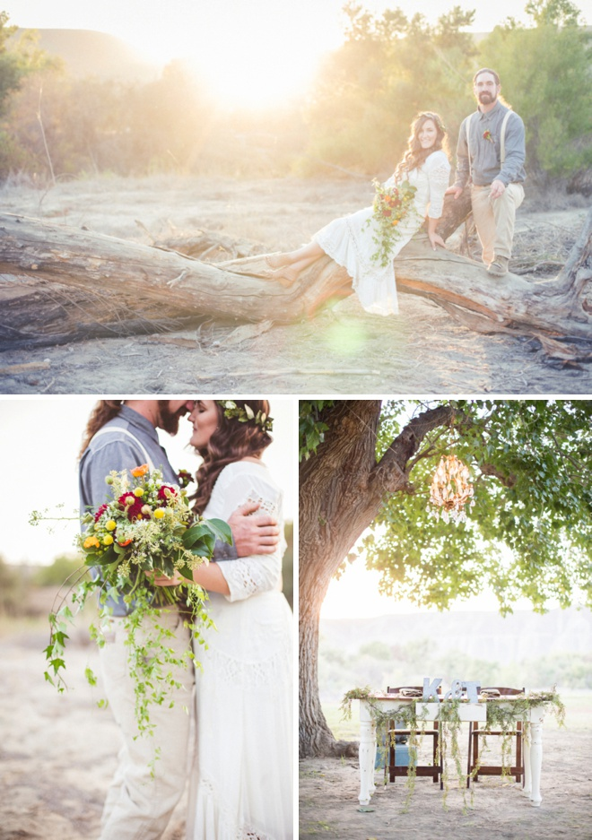 Gorgeous, boho camp wedding by Ashley dePencier Photography