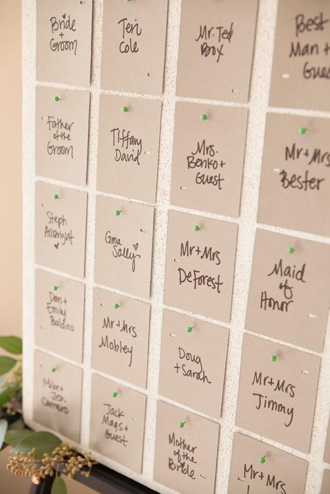 Awesome idea for DIY escort cards + FREE design printable!