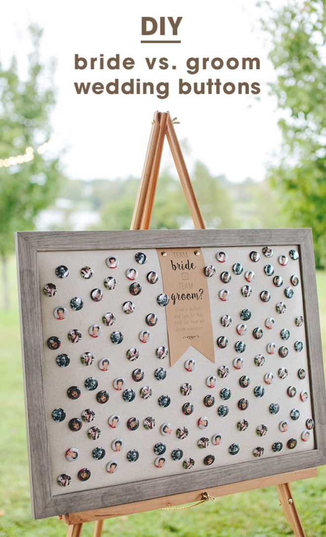 How do you know the Bride or Groom buttons - awesome idea!