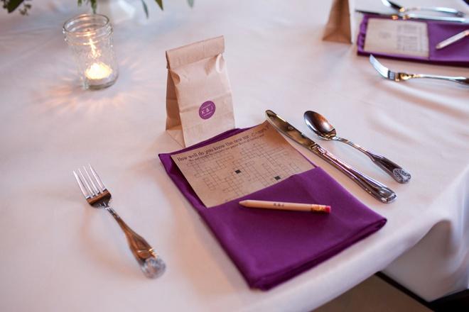 DIY coffee favors and wedding crosswords!