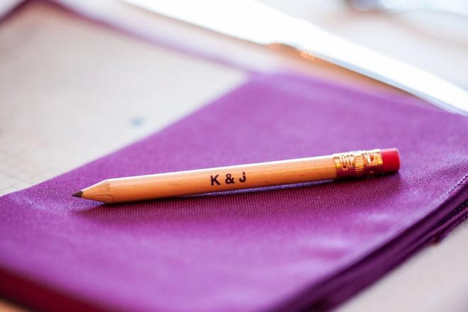 K&J custom wedding pencils