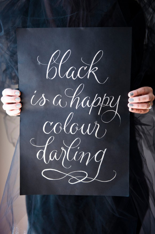 Black is a happy colour darling!