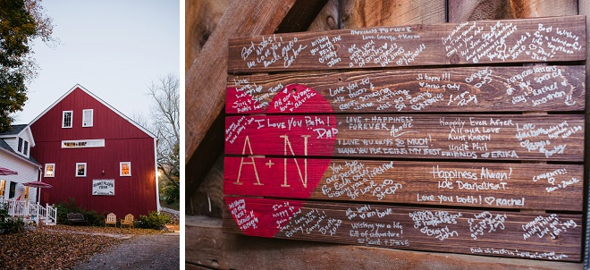 Adorable Hand Made Wood Guest Book!