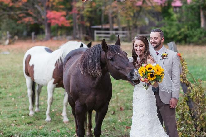 Darling Rustic DIY Wedding with Horses.