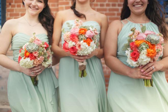 Fun Filled Mint + Coral Tucson Arizona DIY Wedding