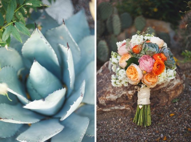 Succulents and bouquets.