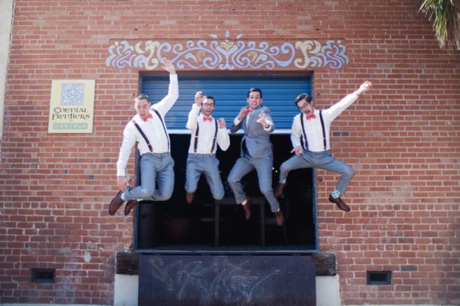 Playful groomsmen!