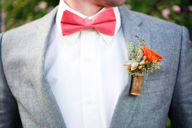 Boutonniere made out of a cork!