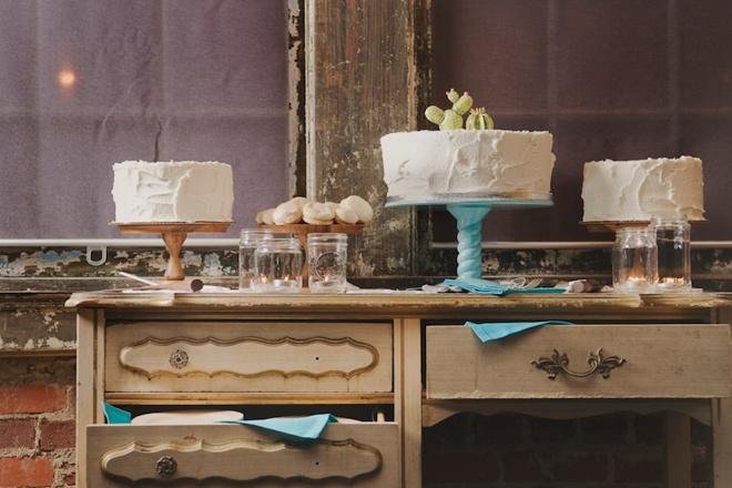 Darling wedding dessert table full of yummy treats!