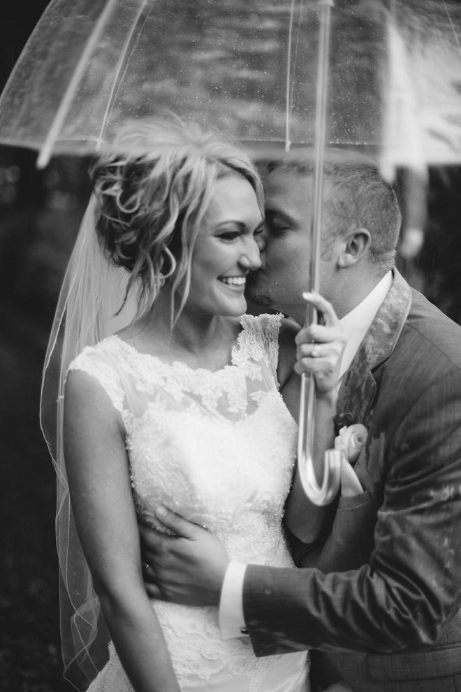 Gorgeous rainy day wedding!