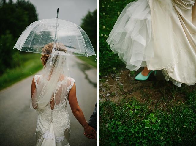 We love this gorgeous rainy day wedding!