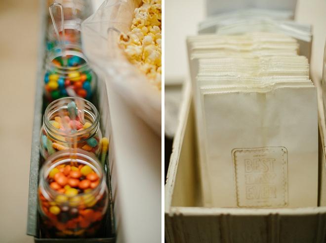 Such a darling DIY popcorn bar!