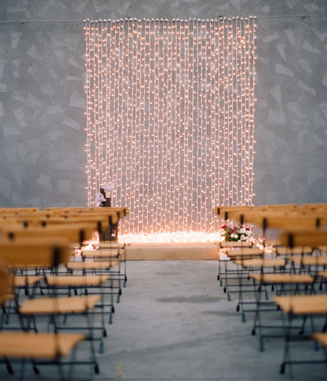 A twinkle light backdrop is photography perfection!