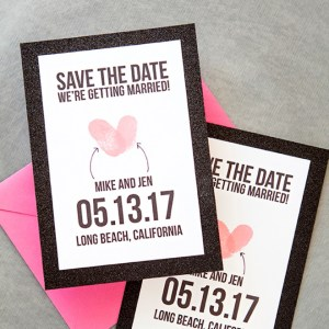 How to make super cute diy instagram save the date invitations diy thumbprint heart save the date junglespirit Images