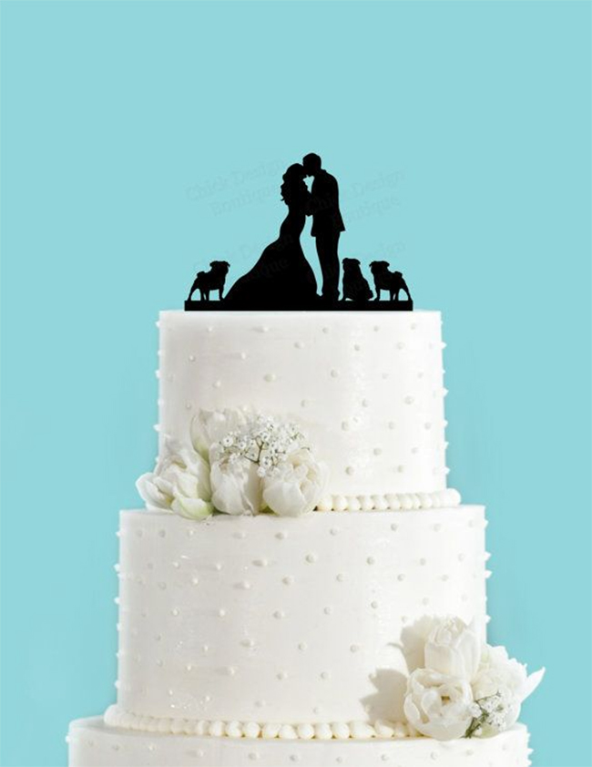 Custom cake topper with fur babies!
