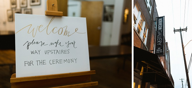 We love the darling details and signage at this DIY art gallery wedding!