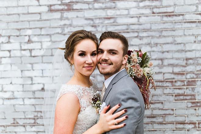 We love this darling DIY art gallery wedding!
