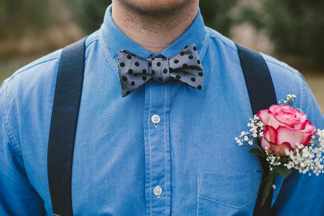 Love this Groom's fun bow tie!