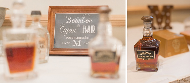 Thoughtful and creative bourbon and cigar bar at this fun New Orleans wedding!